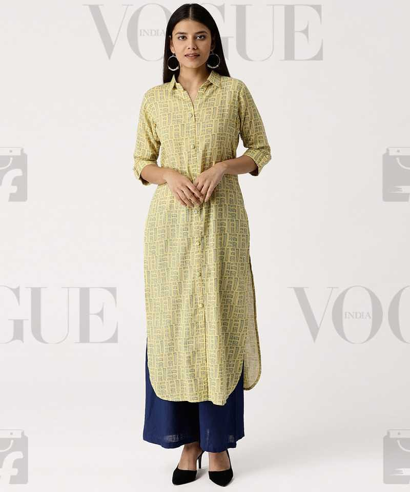 876249d74 Get 65% Off on Libas Women s Printed Pathani Kurta Yellow Vogue Ethnic Wear  Kurtis Deal