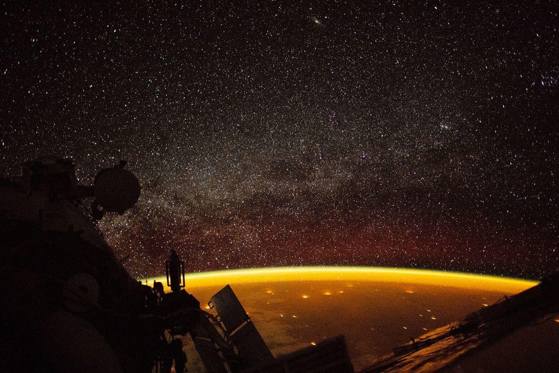 звездное небо с мкс фото