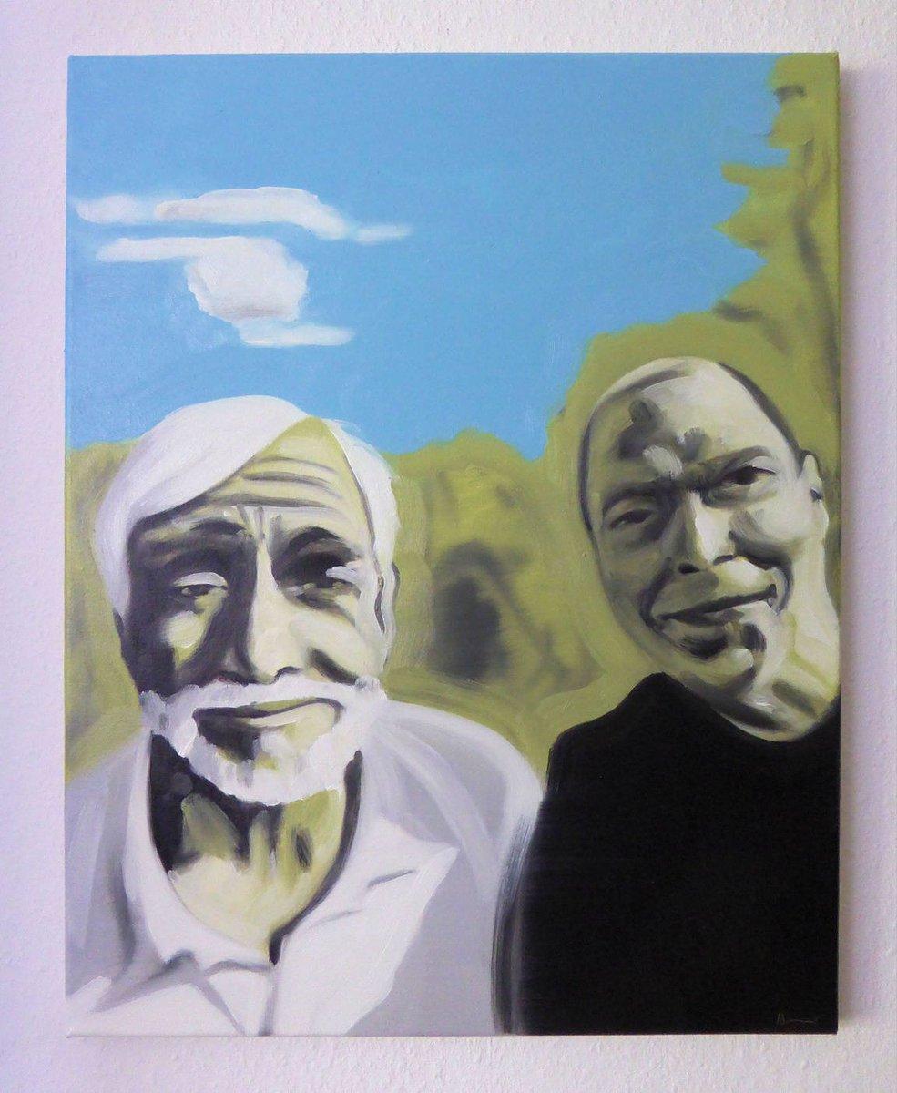 "Part 5 of painted selfies with celebrities, ""You and me 05, Till"" 50x40cm, oil/canv, 2019 #art #artwork #Painting #kunst #malerei #Selfie #Promiselfie #socialmedia #socialmediapainting  #dortmund  Http://instagram.com/eckhardbremerpic.twitter.com/ujJgzifhYH"