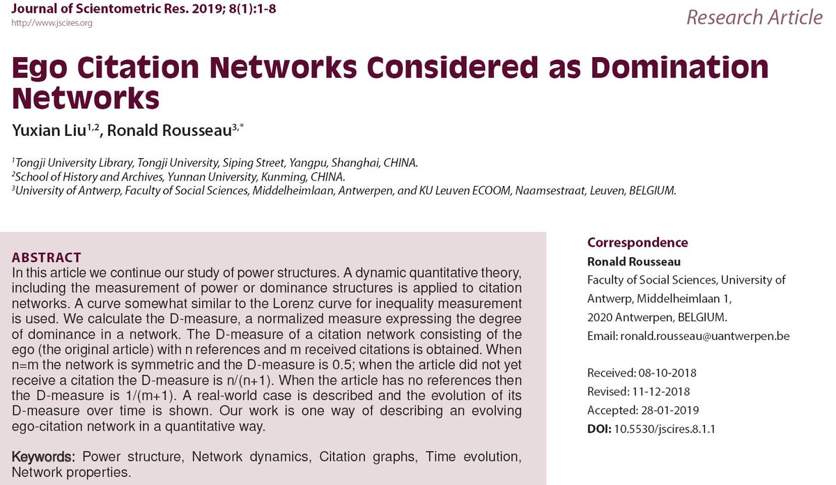 Jscires On Twitter Ego Citation Networks Considered As