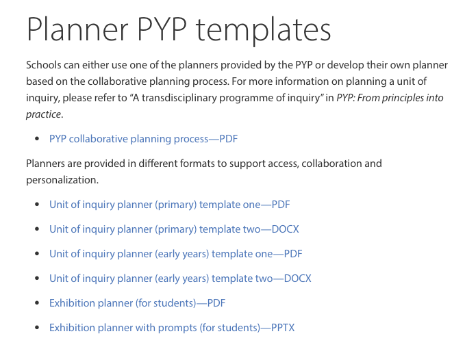 Please continue to share your thoughts and feedback - #PYPvoices - we are listening!Editable planners are available on the PRC - for additional support - why not also watch our recent webinar 'Getting practical with: Planning'?Link: http://bit.ly/2LuvfnI