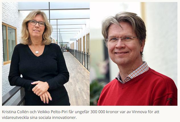 """Vinnova satsar 600 000 kronor på sociala innovationer från Örebro. """"För mig har Social Impact Lab betytt oerhört mycket"""", säger Kristina Collén. https://www.oru.se/nyheter/vinnova-satsar-pa-sociala-innovationer-fran-orebro/…"""
