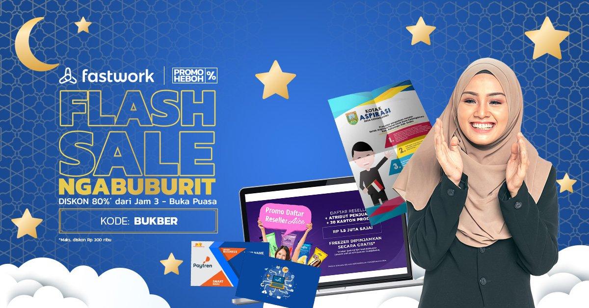Flash Sale Ngabuburit Fastwork! Gunakan kode voucher BUKBER untuk mendapatkan diskon 80% untuk pembelian semua jenis pekerjaan di Fastwork! *Potongan diskon maksimal Rp 300.000 #FastworkIndonesia #cepetgaribet #Fastwork https://t.co/ToInxxrnI4
