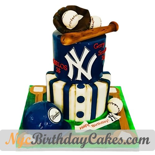 Peachy Nyc Birthday Cakes On Twitter New York Yankees Cake S T Co Funny Birthday Cards Online Fluifree Goldxyz