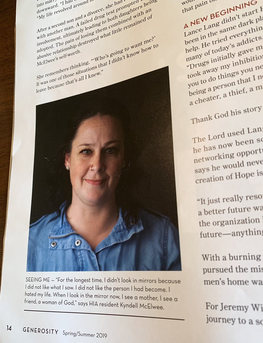 45abd75e46772a ... in this incredible article in Generosity mag ( BGCO  BFOKellogg) about   HopeisAliveOk and her journey to sobriety!  HIApic.twitter.com 1vABcfX3TI