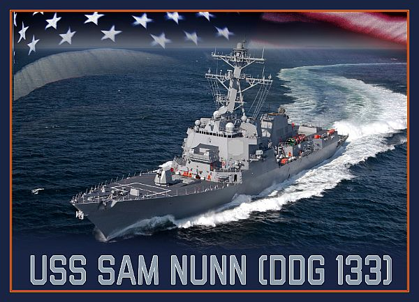 Secretary of the Navy Richard V. Spencer has named a future Arleigh Burke-class guided-missile destroyer, DDG 133, in honor of U.S. Senator Sam Nunn, who represented Georgia from 1972 to 1997.  https://www.navy.mil/submit/display.asp?story_id=109469…