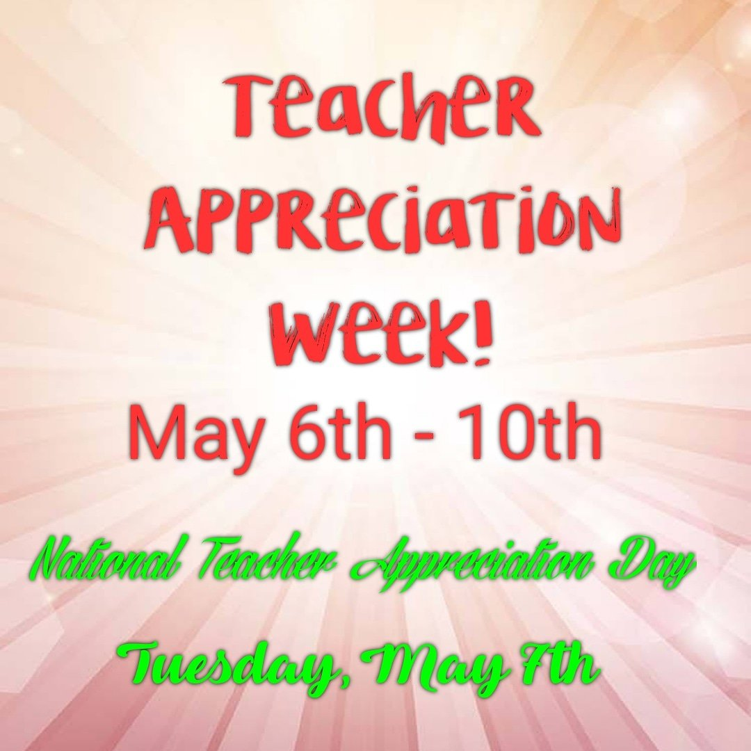 #HappyTeacherAppreciationWeek I'm so excited for all of the teachers this week! #RSAFAMILY ...make sure to thank your teachers today and everyday!  #TeachersMatter #Champions4Children https://t.co/0zwwdC9KzY