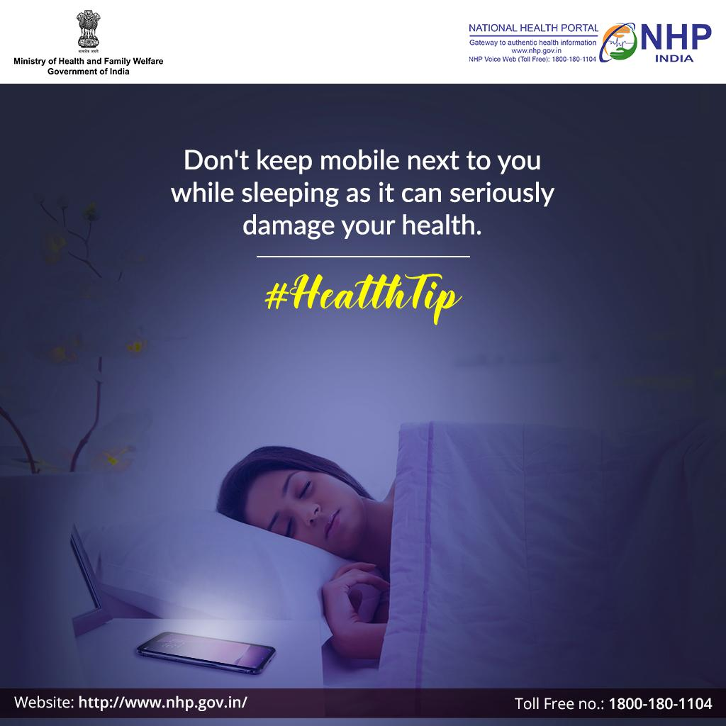 0fec6fa78f04 It is therefore advised to keep your phone at least a few feet away from  your bed.  HealthTip  HealthForAllpic.twitter.com dhvw0JEUDf