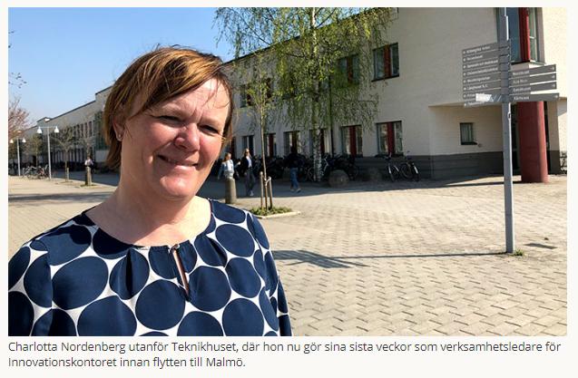 """Örebroprofilen Charlotta Nordenberg lämnar staden och Örebro universitet efter 32 år. """"Örebro har blivit modigare"""". https://www.oru.se/nyheter/charlotta-nordenberg/…"""
