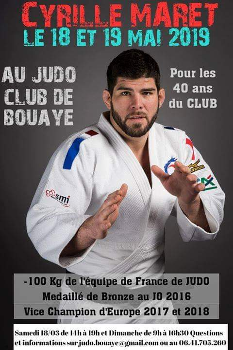 A #bouaye le 18 et 19 Mai venez voir #CyrilleMaret @ffjudo_officiel @Judo @lespritdujudo @Paris2024 @AnthonyBrulez @dphelippeau @bleuloireocean @FranceOlympique @teddyriner @Sports_gouv @SPORTPDL @NantesMetropole #judo @JeanDamienLesay @afpfr @sports_ouest @telenantesinfo https://t.co/72lhWNaa55
