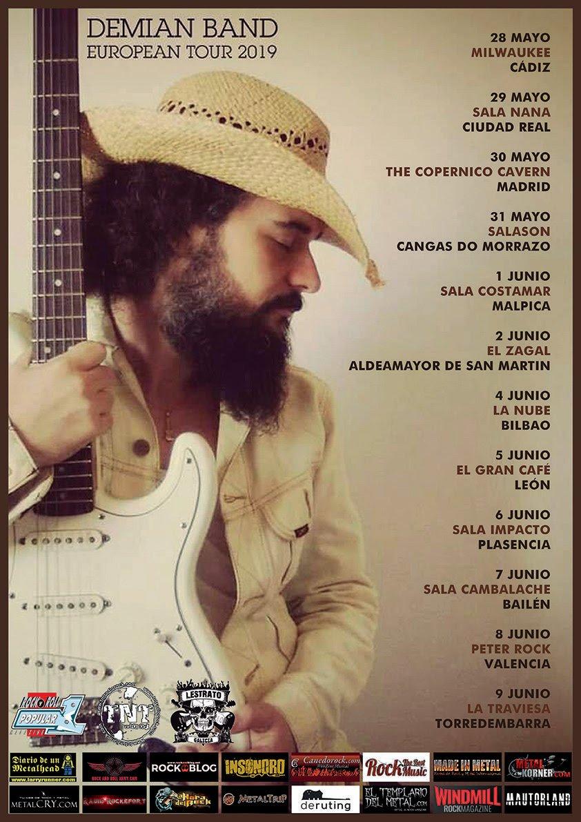 #tour. @demianband on tour por #España para presentar disco  http://j-musind.blogspot.com/2019/05/demian-band-en-espana.html…pic.twitter.com/mqmSu71qZd