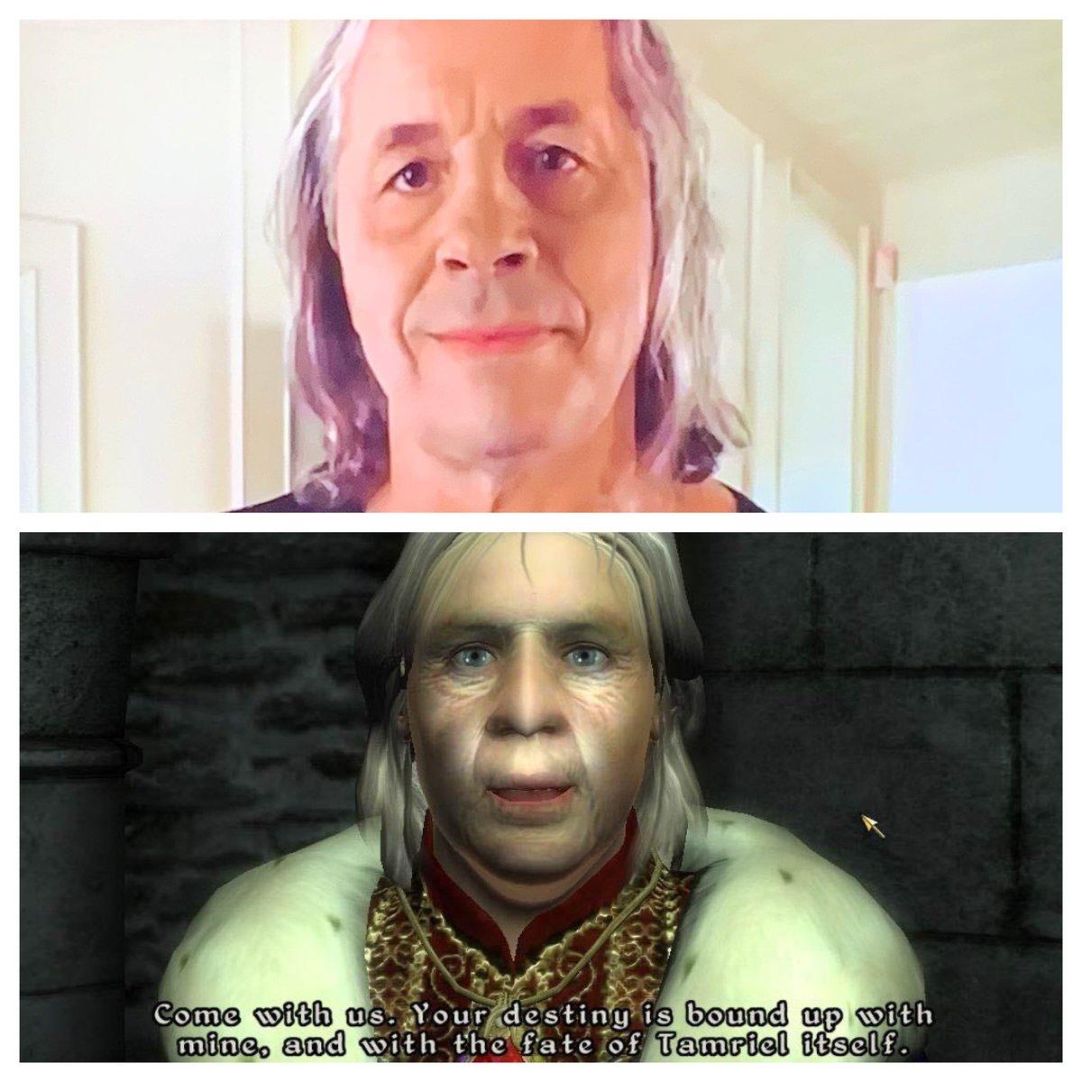 @BretHart looks like Uriel Septim from Oblivion. #elderscrolls #oblivion #urielseptim #brethart #brethitmanhart #wwe #wwf #wcw #bethesdapic.twitter.com/NA3f5qgnr1