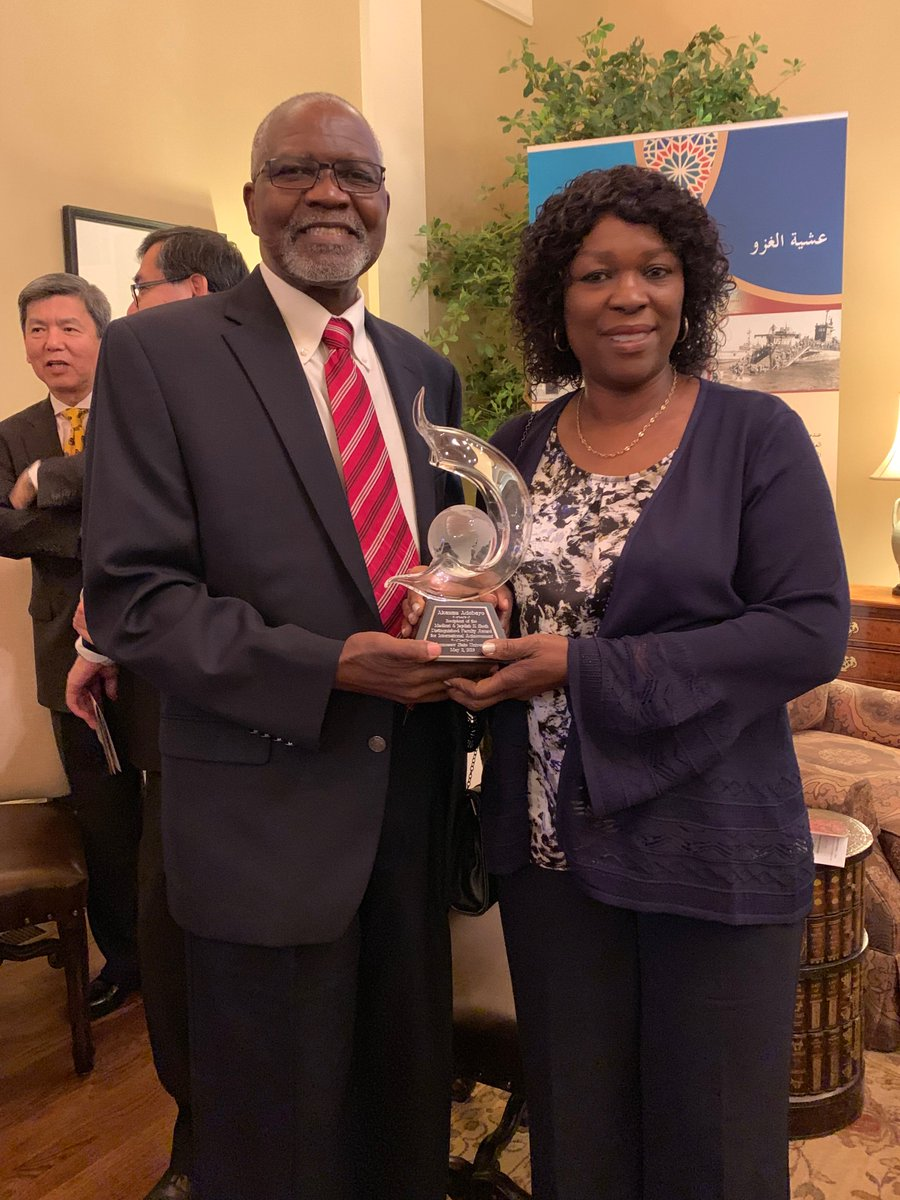 Dr. Akanmu Adebayo receives the Distinguished International Achievement Award for 2019.