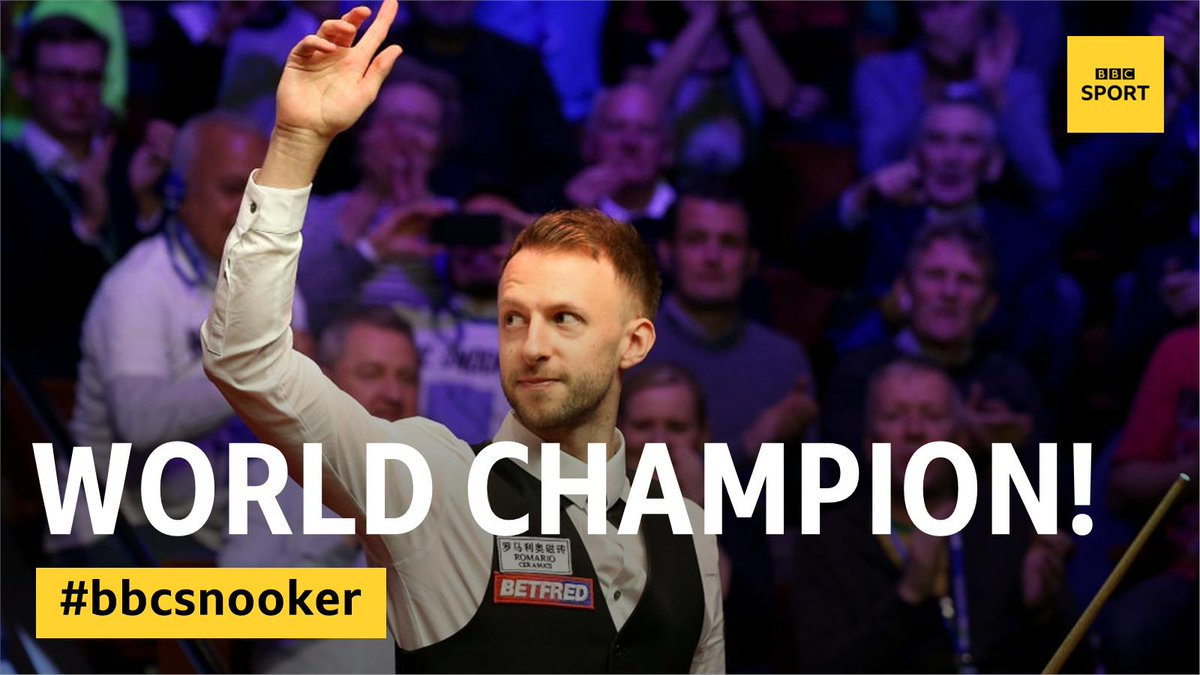 WHAT A FINAL!Judd Trump wins his first World Championship by beating John Higgins 18-9. http://bbc.in/2GZbNdv  #bbcsnooker