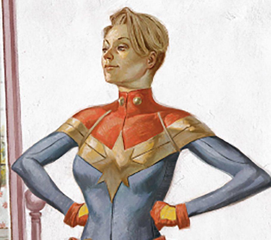 Captain Marvel News On Twitter Carol S Short Hair Straight From The Comics To The Mcu Captainmarvel Avengersendgame