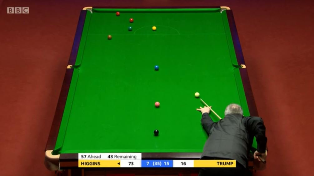 Higgins takes the 23rd frame......which means we will be back for an evening session.Watch on @BBCTwo and follow live text: http://bbc.in/2GZbNdv  #bbcsnooker