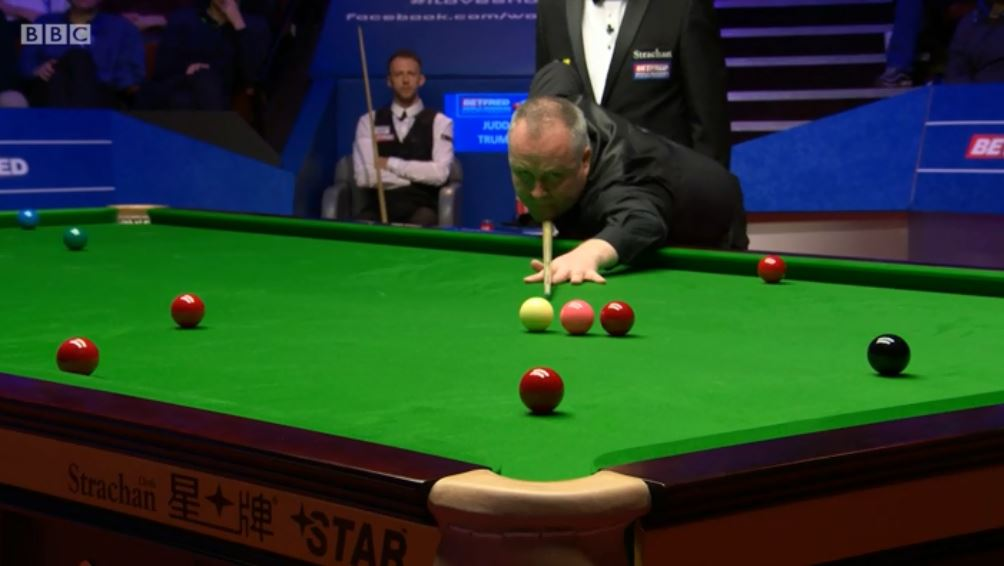 Higgins pulls another one back.Can he pinch the last frame of the session to trail 15-10 heading into this evening's conclusion?Watch on @BBCTwo and follow live text: http://bbc.in/2GZbNdv  #bbcsnooker