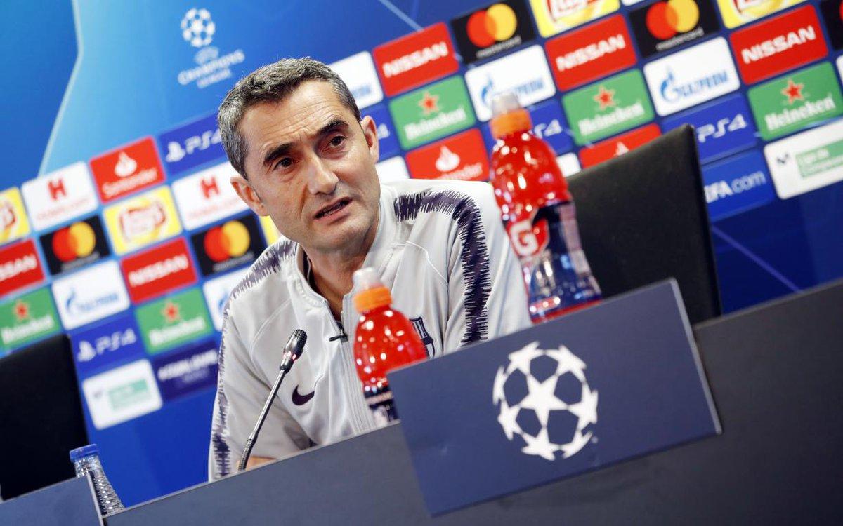D55cCJdWkAIa8ta Valverde habló sobre Dembelé, Busquets, Vidal y el partido ante el Liverpool - Comunio-Biwenger