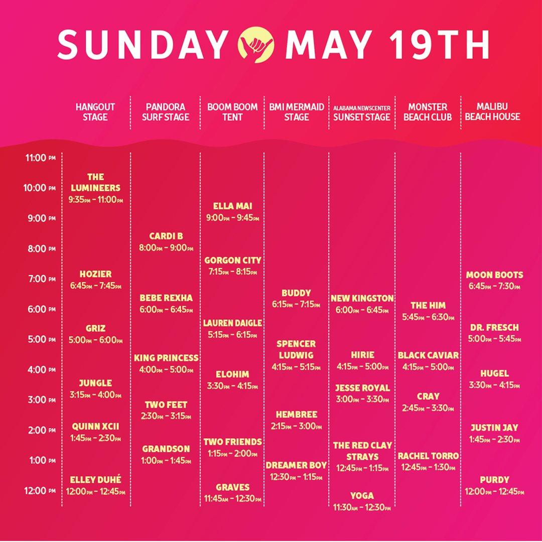 Hangout Fest schedule