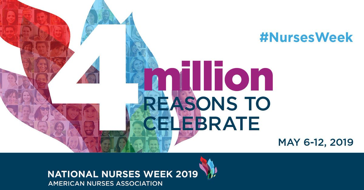 Happy National Nurses Week! This week we would like to recognize the vast contributions and positive impact of America's 4 million registered nurses.