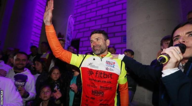 12 miles swam 🏊♂️ 5 marathons ran 🎽 560 miles cycled 🚴♂️ 61,000 calories burned 💪  And that's all in a week!   Francis Benali, you are an inspiration.   👉 https://bbc.in/2Jlt1ES