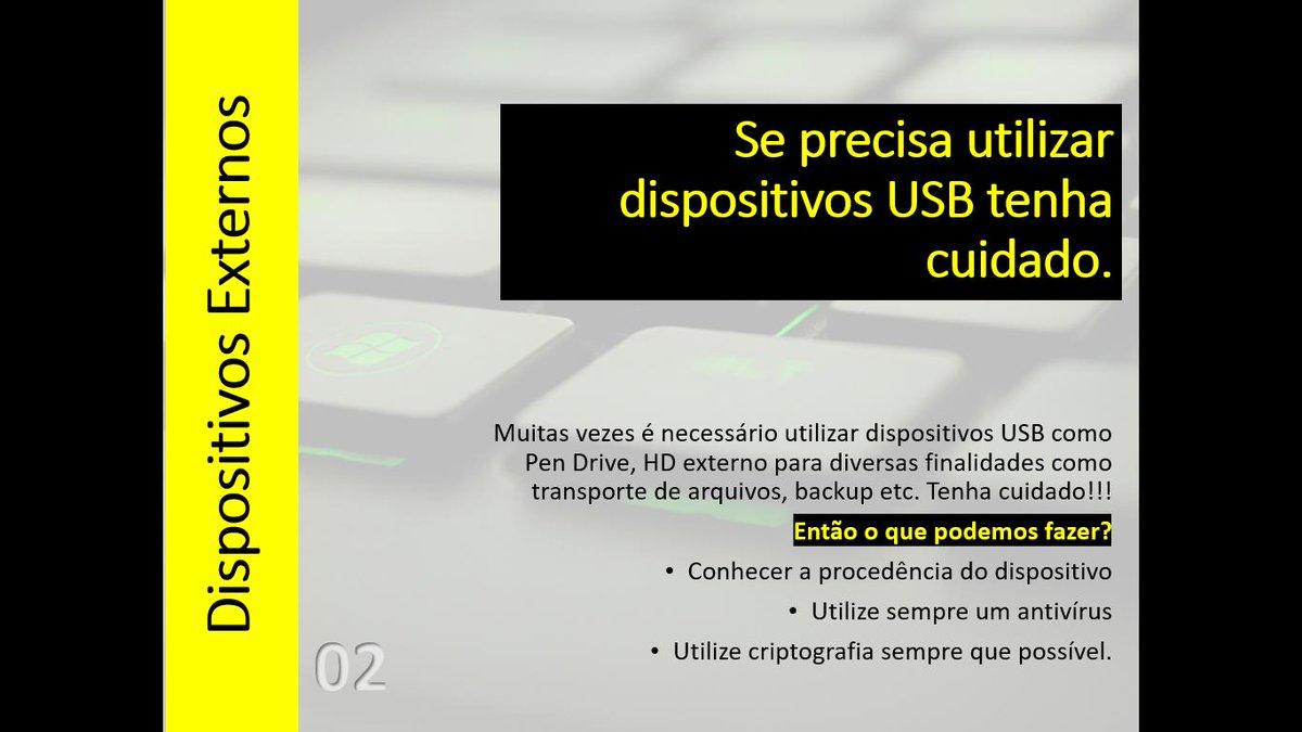 #senhas #usb #dispositivos