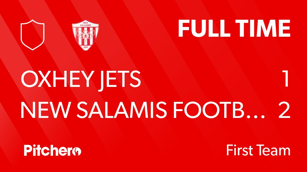 RT @NewSalamisFCUK: FULL TIME: Oxhey Jets  1 - 2 New Salamis Football Club #OXHNEW #Pitchero https://t.co/4UY0VyvKsf https://t.co/xrnW4AdlU3