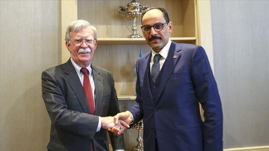 Cumhurbaşkanlığı Sözcüsü Kalın, Bolton ile Suriye ve ikili ilişkileri görüştü v.aa.com.tr/1471871