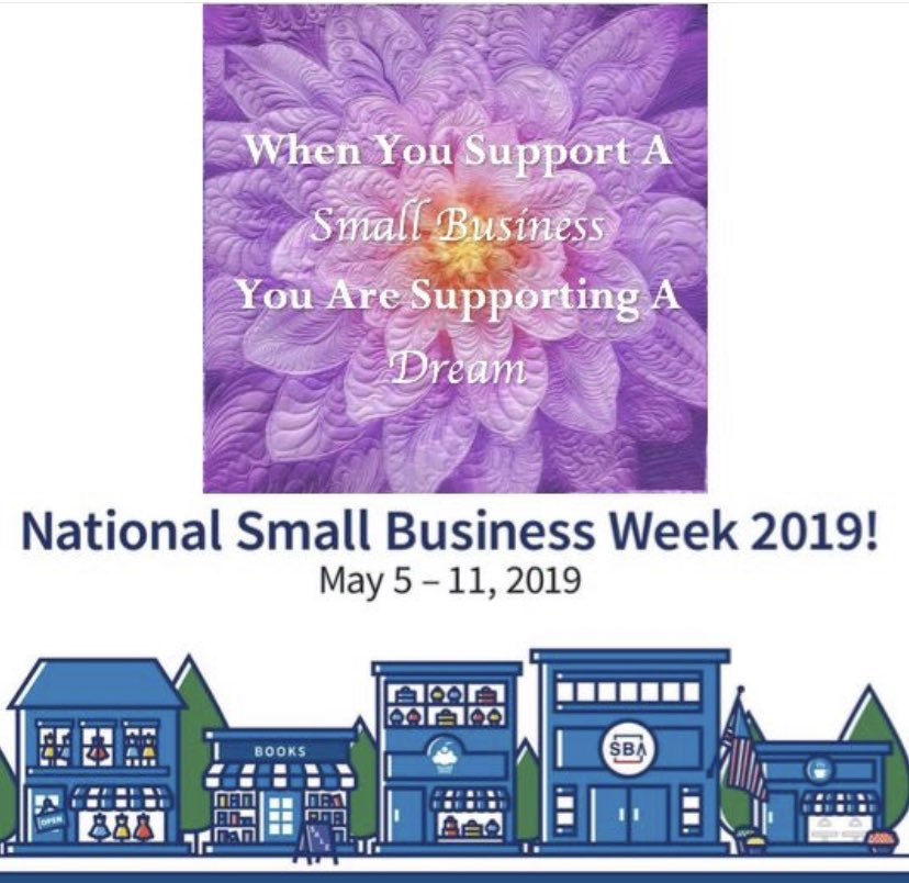 Thank you for supporting my dream! #sba #smallbusinessweek #dreamjob #quiltersoftwitter https://t.co/NlYwu6oQFV