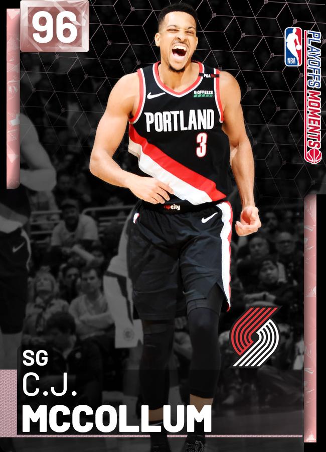 b1002a5c0 5 new  PlayoffsMoments cards  C.J. McCollum