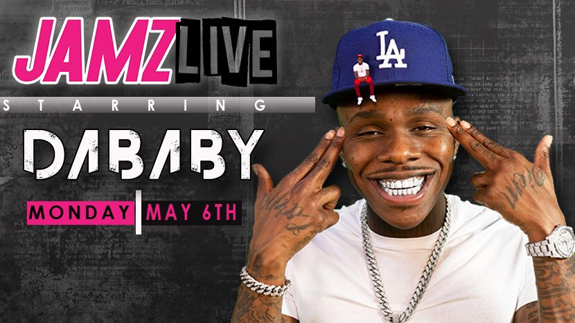 It's going down TODAY!! @DaBabyDaBaby will hit up our penthouse studio for #JAMZLIVE w/ the #AfternoonGetDown's @supacindy and @DJEntice! Tune in on the #99JAMZ App at 4PM!