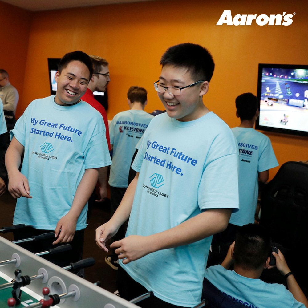 Aaron's and Progressive Leasing, surprised Las Vegas teens with a freshly remodeled Keystone Teen Center at the Boys & Girls Clubs of Southern Nevada, Southern Highlands. The teens can enjoy the redesigned areas dedicated to leadership development, study, lounging and games.
