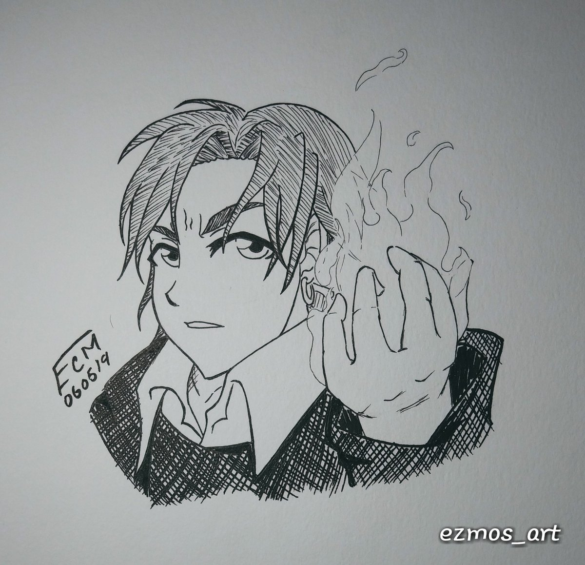 Ezmo On Twitter I Don T Know Why But I Ended Up Drawing Angry Fire Boy Natsume From Gakuen Alice It S A Good Anime I Don T Believe They Ever Finished It I Never