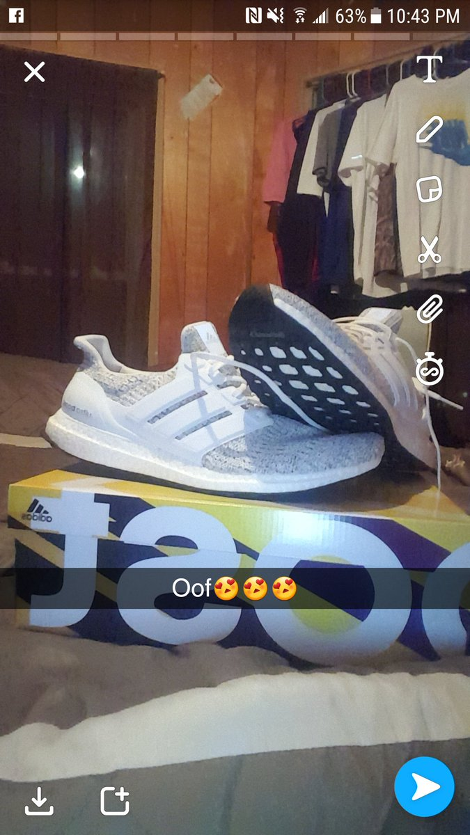 3af1d2b463a54 First pair and the most comfortable shoes I ve put on my feet  Adidas   UltraBOOST pic.twitter.com UoNRfwPXxL
