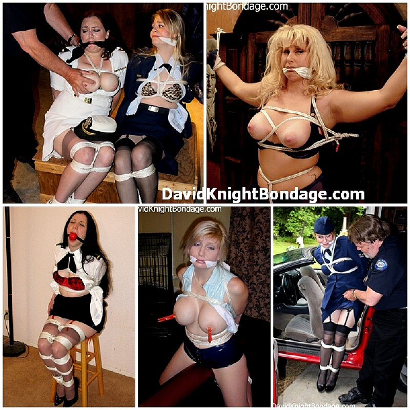Gagged girls tied tight
