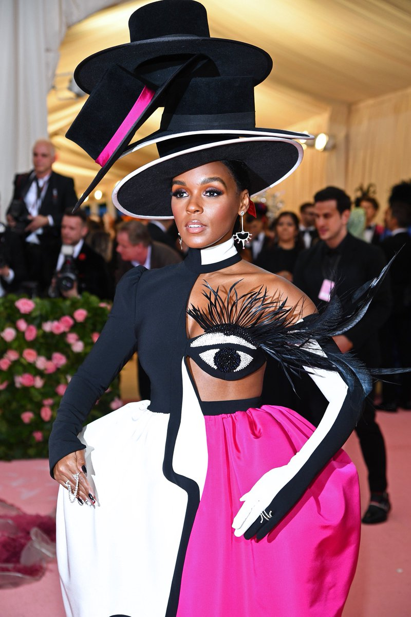 Janelle Monae wearing Christian Siriano may be one of our favorites of the night #MetGala