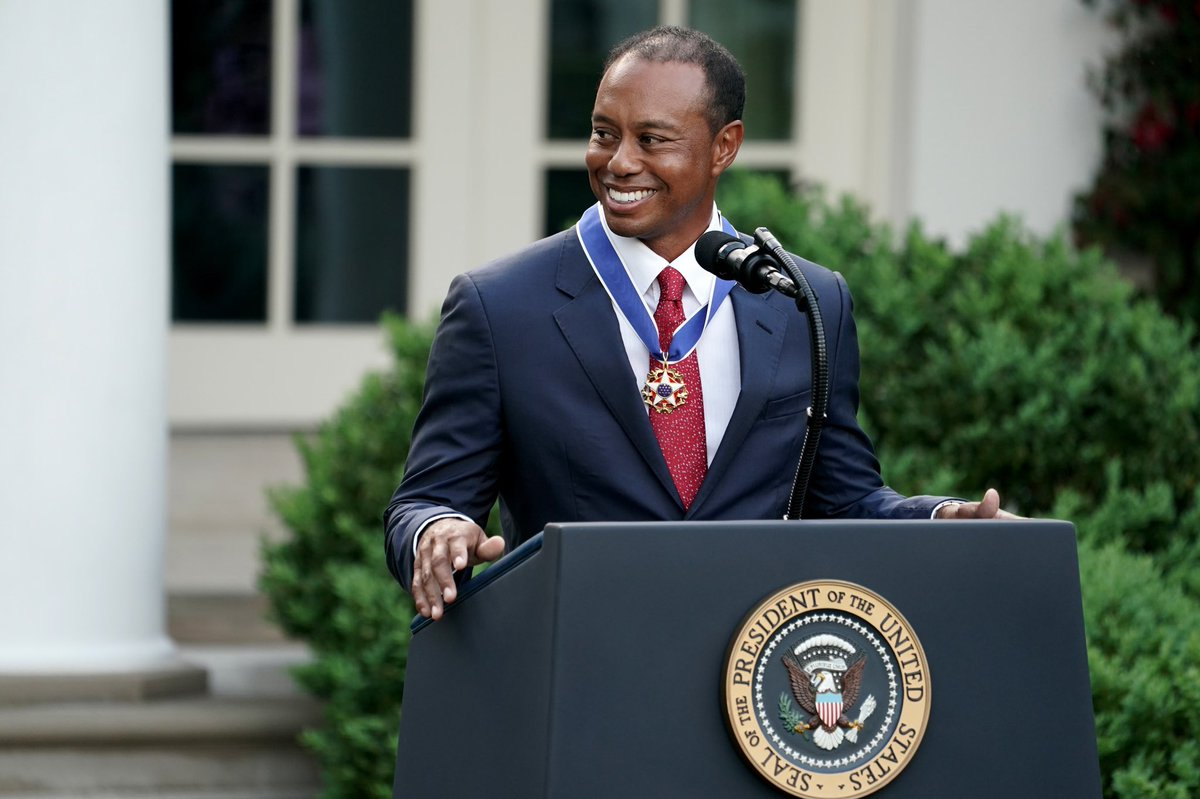 It's an incredible privilege to be awarded the Presidential Medal of Freedom. Considering the recipients, history, and what this means to me and my family, it's also very humbling. Thank you all for your support and I hope this inspires others to never give up on their dreams.