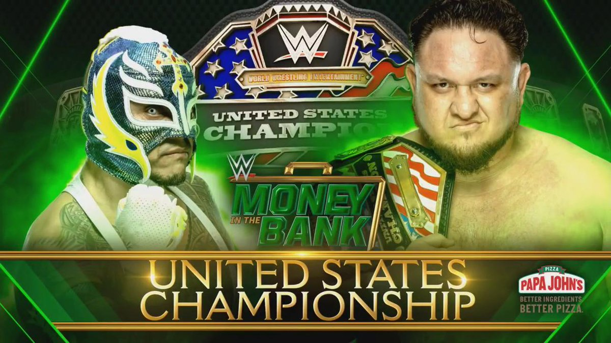 Samoa Joe To Defend The WWE United States Title Against Rey Mysterio At WWE Money In The Bank