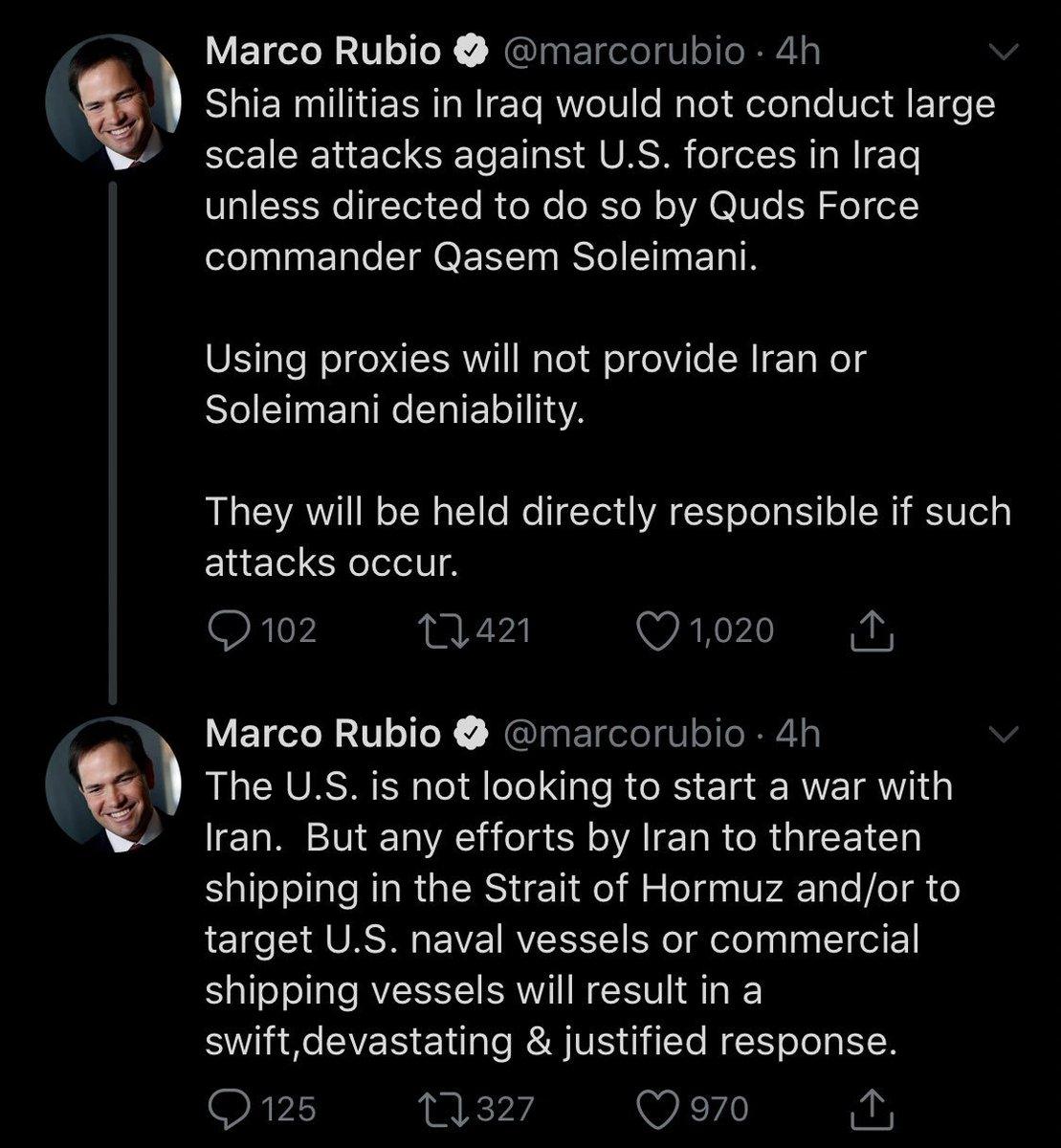 أمريكا: أرسلنا القوة الضاربة إلى الخليج بسبب تحضيرات إيران لمهاجمة عسكريينا D57d2v0UEAEzGVZ