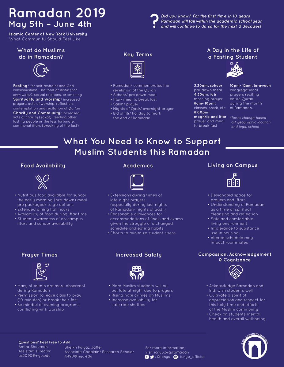 Great resource from @ICNYU to help schools and universities support Muslim students during #Ramadan.