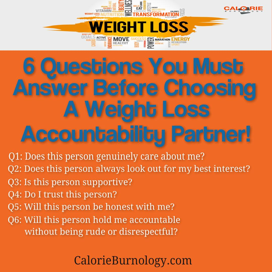 Weight loss accountability partner
