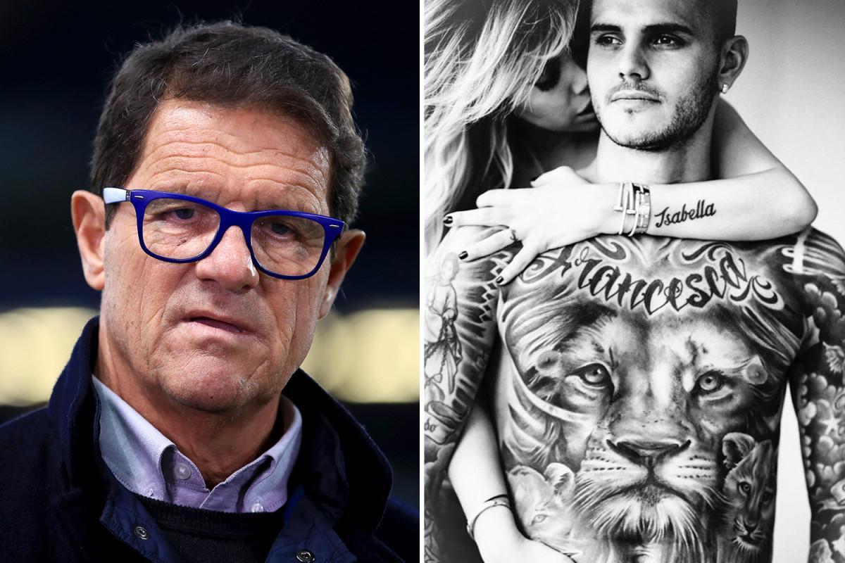 Fabio Capello Wanda Nara Clash Model Naked Photoshoot Inter Star