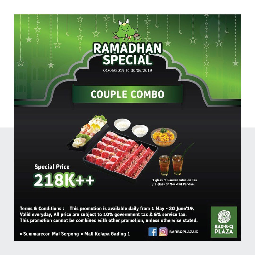 Price start from 218k include appetizer complete meal special drinks getdiskon saveduit promo barbqplaza bukber promoramadhanpic twitter com