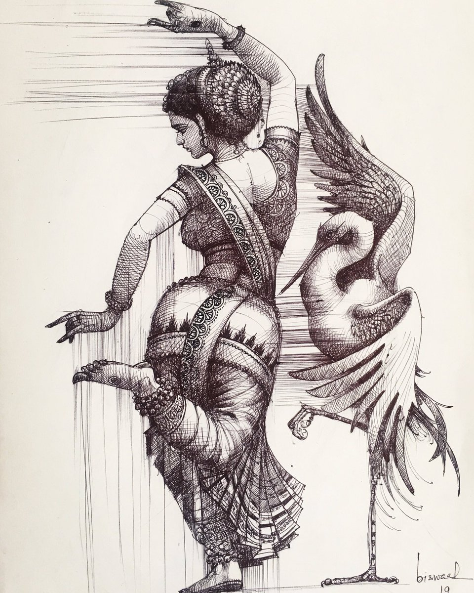 Bijay Biswaal On Twitter Dance Of Chilika Ballpointpen On Paper Sketchbook Biswaalart Odissi Classicaldance Drawing Chilika Birds Art Birdphotography A Humble Pen Tribute To The Essence Of Odisha The Beautiful State