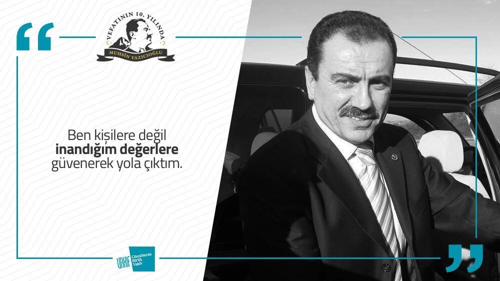Ben kişilere değil inandığım değerlere güvenerek yola çıktım. #muhsinyazıcıoğlu #muhsinbaşkan #gönüllerdebirlik