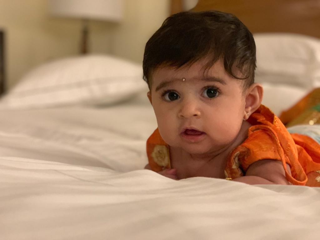 "Presenting to you "" The girl who rules my world "" ❤❤❤❤❤ Since we haven't named her yet,  let's call her baby YR for now ❤❤❤❤❤ Do shower your love n blessings on her too 🙏"