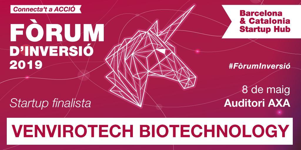 Lempresa finalista @VEnvirotech vol acabar amb el problema de la contaminació de plàstics a través dun bioplàstic biodegradable. Tenen un minut per explicar-ho al #FòrumInversió! accio.gencat.cat/ca/activitats/…