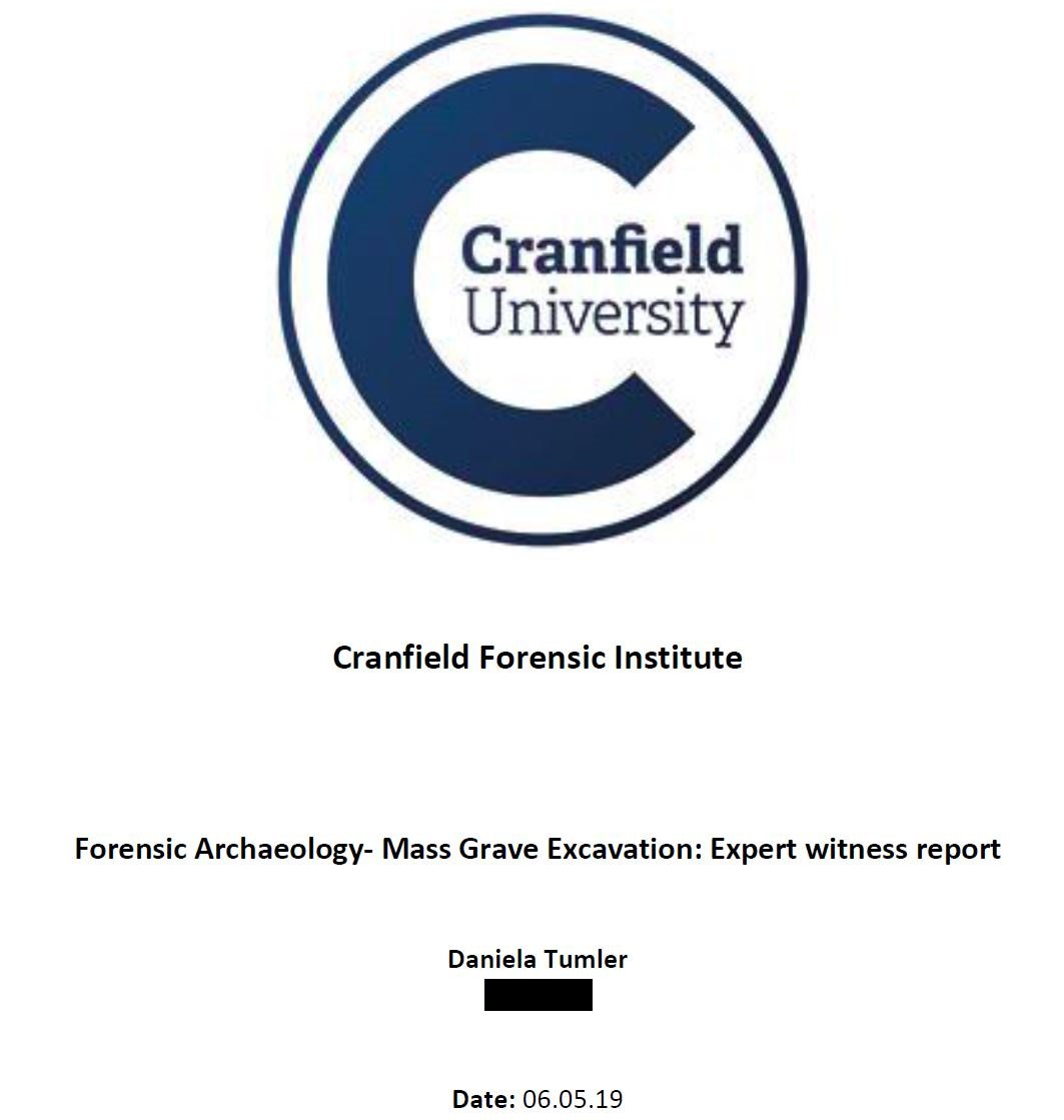 Daniela Tumler On Twitter The Forensic Archaeology Course On Mass Grave Excavation Was A Highly Interesting Experience Looking Forward To Receiving Feedback On My Performance Cranfieldforsci Forensictraining Archaeology Phd Expertwitnessreport