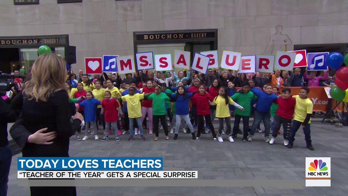 .@jennabushhager helped pull off a few surprises for a New York teacher during #TeacherAppreciationWeek!