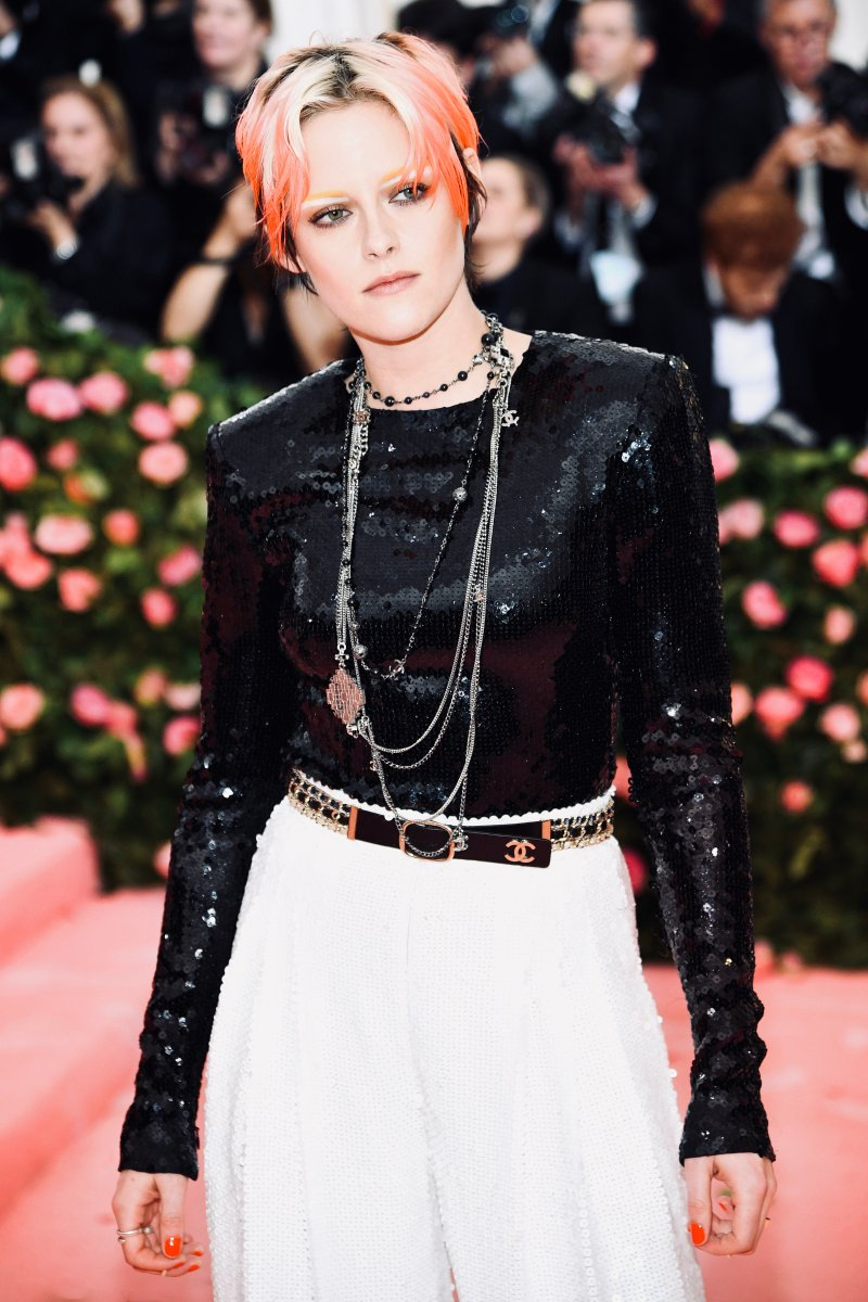 House ambassador Kristen Stewart chose an entirely sequinned look from the #CHANELFallWinter 2019/20 collection to attend this year's #MetGala, the Costume Institute's annual benefit in New York.